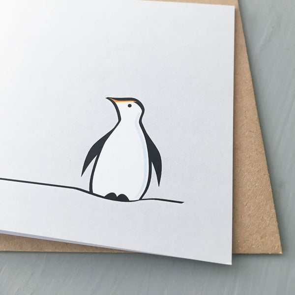 Penguin Card, Part of the Winter Collection