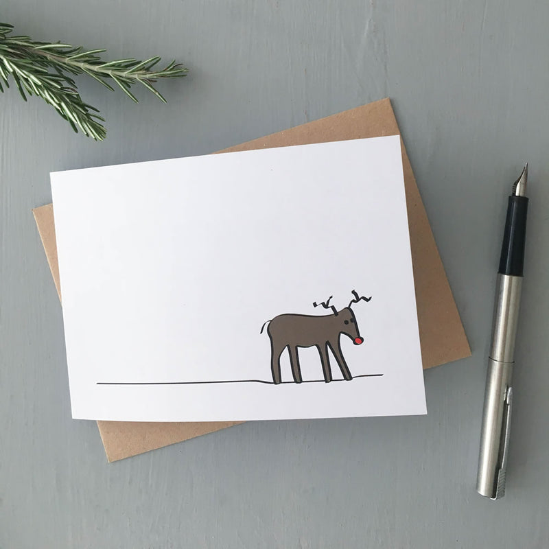 Reindeer Card, Part of the Winter Collection