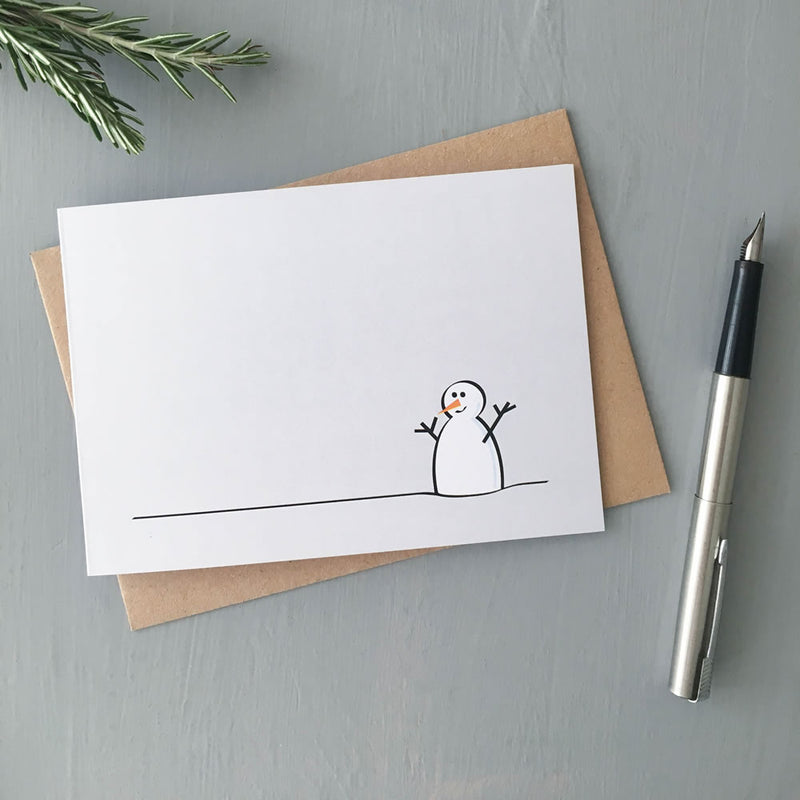 Snowman Card, Part of the Winter Collection