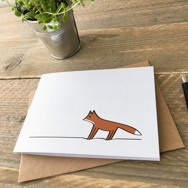 Card with Fox