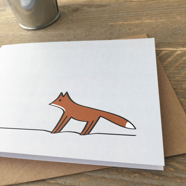 Close up of Fox Card