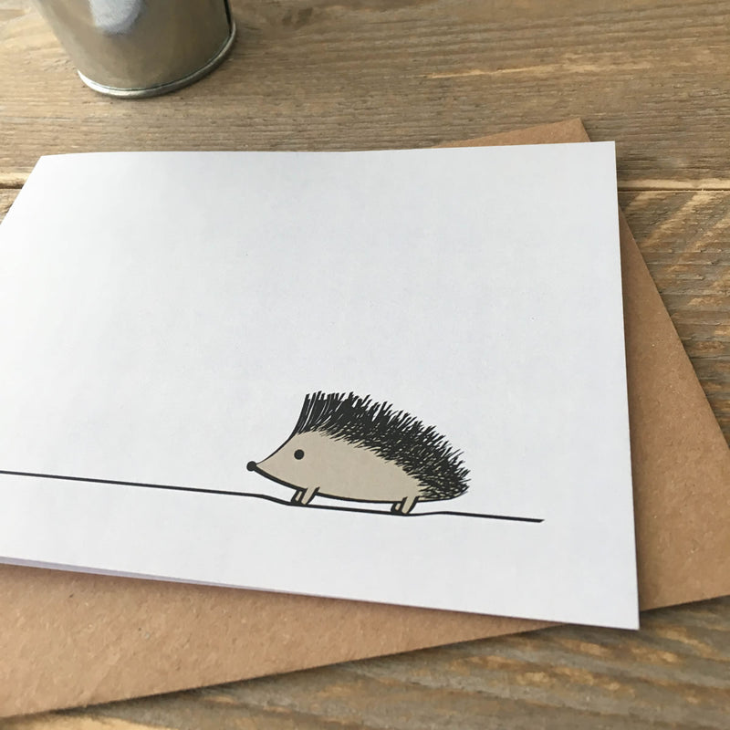 Close up of Hedgehog Card