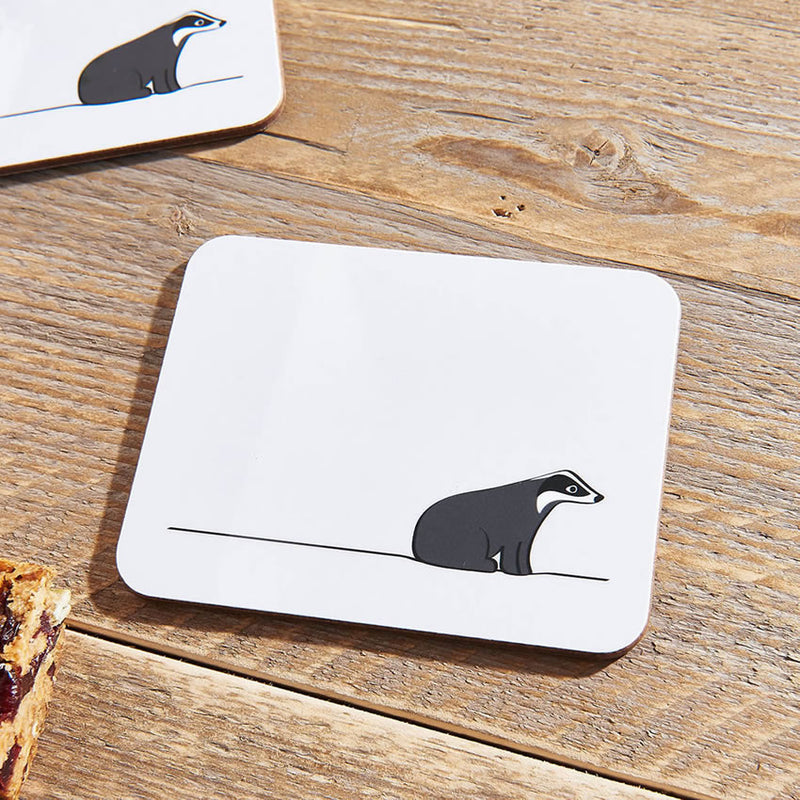 Badger Coasters Close Up