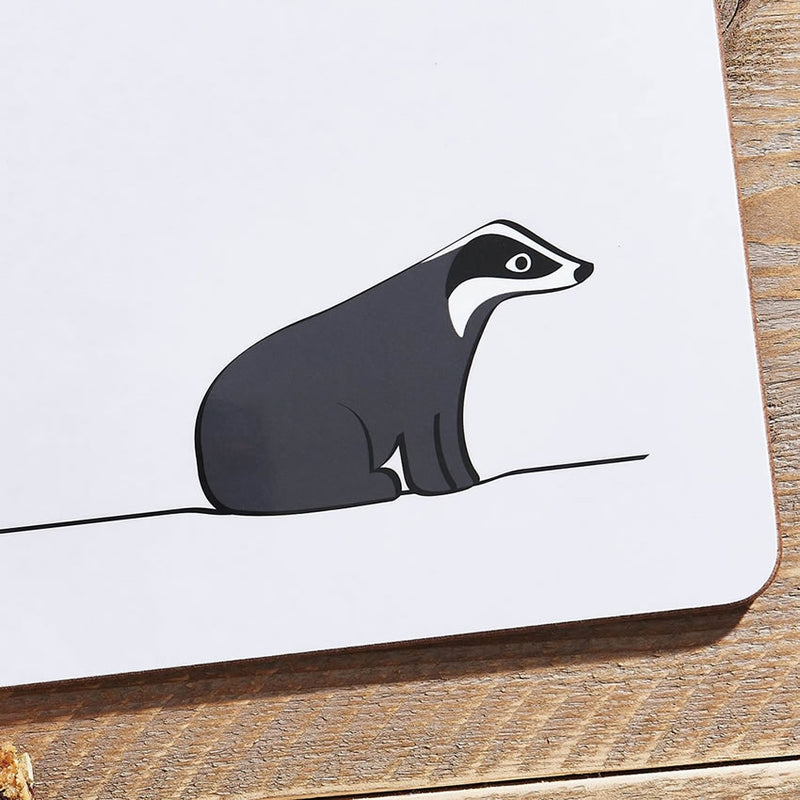 Badger Placemat Close Up