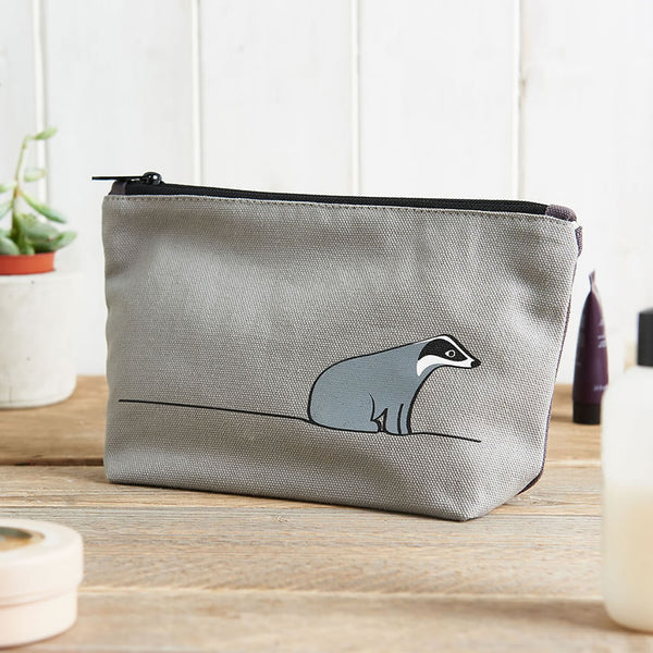 Badger Zip Bag, ideal for toiletries, makeup or pencils