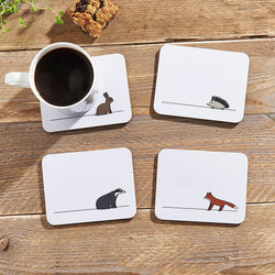 Woodland Collection Coasters with Coffee