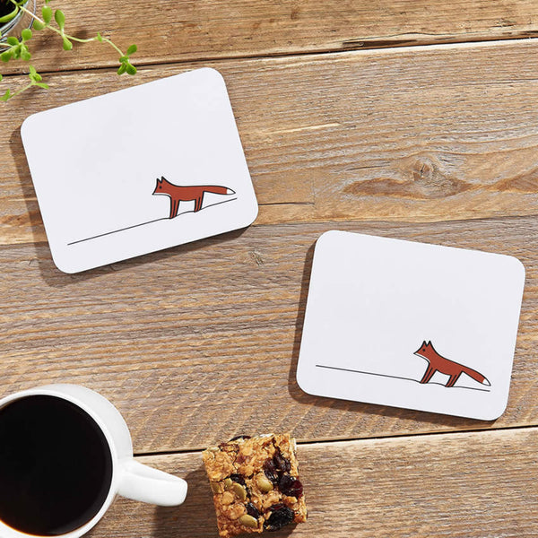 Woodland Collection Coasters with Morning Coffee