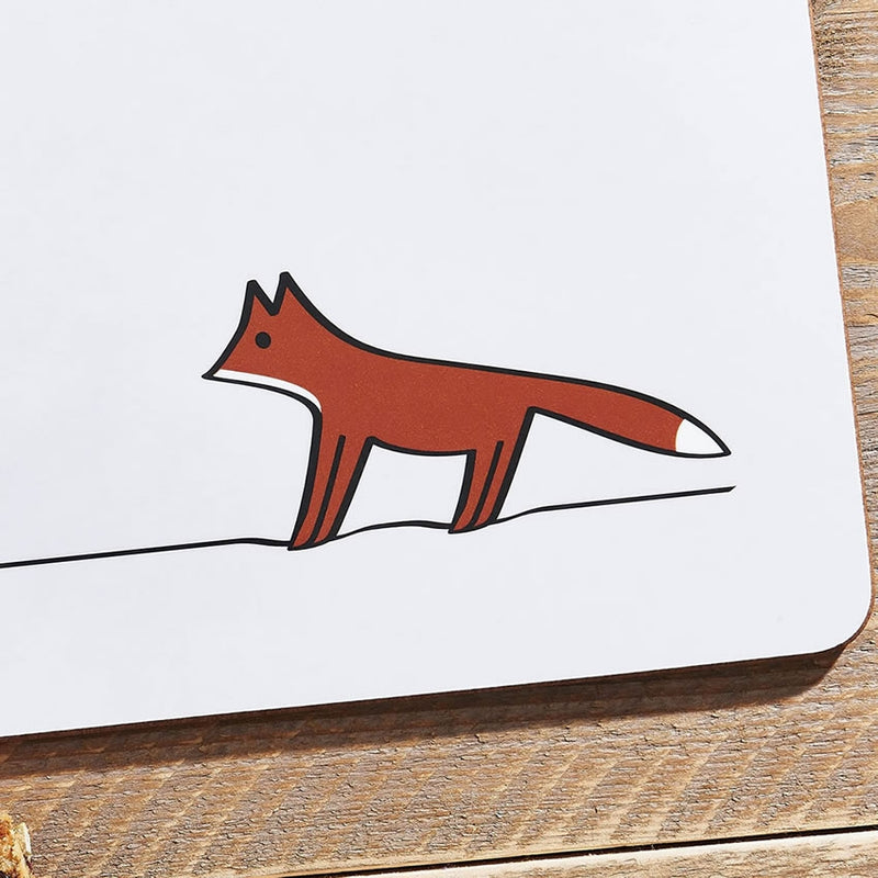 Fox Placemat Close Up