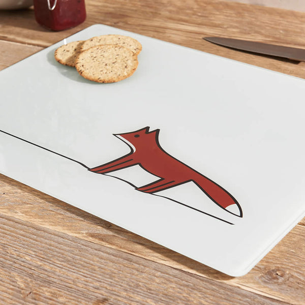 Fox Glass Chopping Board