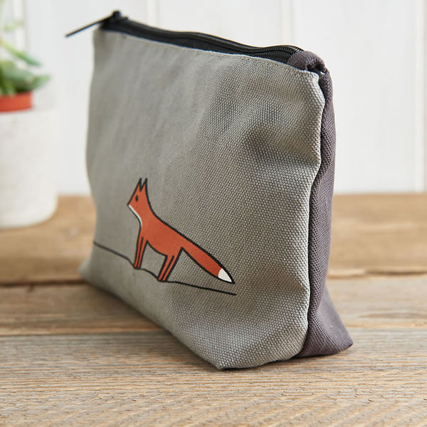 Fox Zip Bag - Makeup Bag, Washbag, Travel Bag, Pencil Case