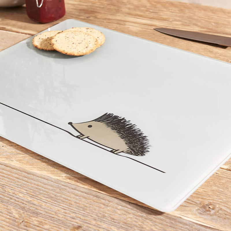 Hedgehog Glass Chopping Board