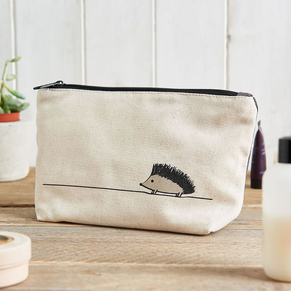 Hedgehog Zip Bag, ideal for makeup, toiletries, pencils, tools