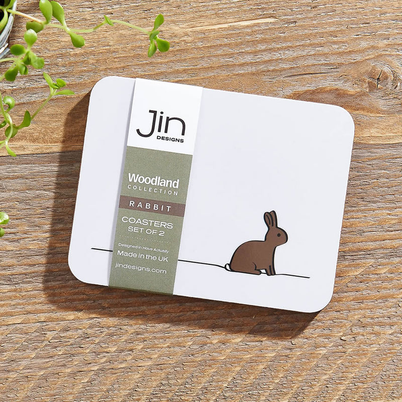 Rabbit Coasters, Set of 2