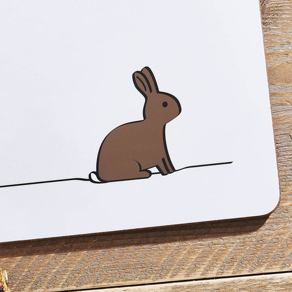 Rabbit Placemat Close Up