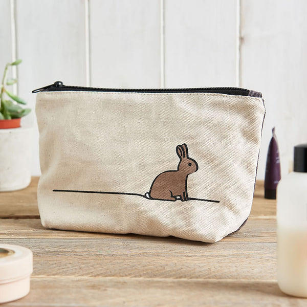 Rabbit Zip Bag, ideal for toiletries, tools, makeup and pencils