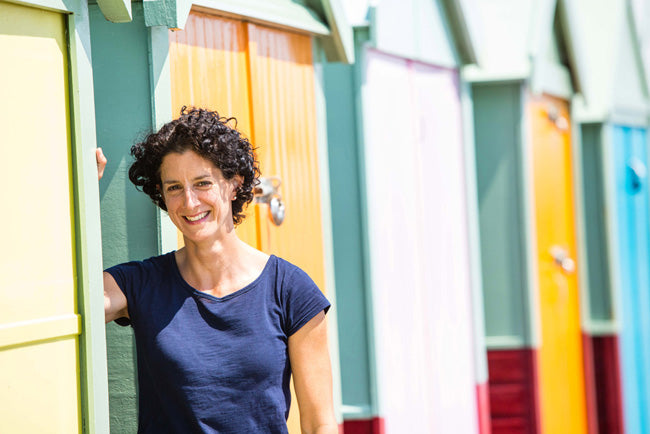 Jinny at the Beach Huts in Hove Actually