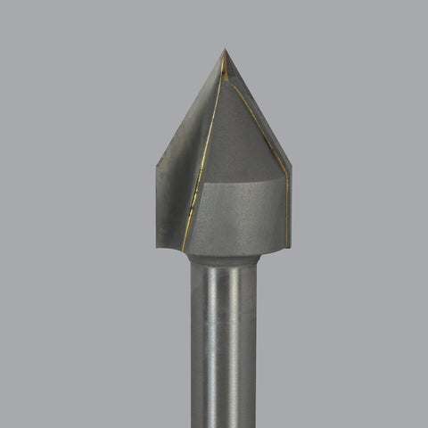 Onsrud 37-82 Carbide Tipped router, 2 flute, Lettering Bit