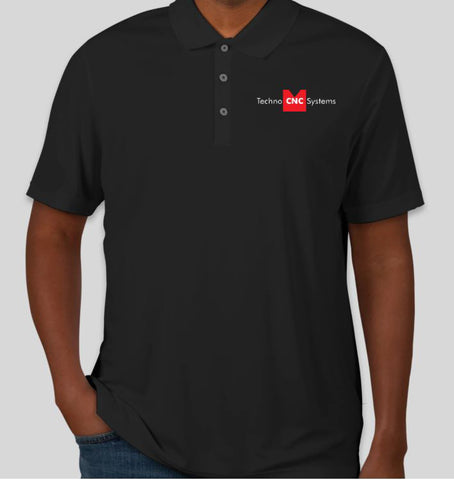 Techno Logo Performance Polo - Black