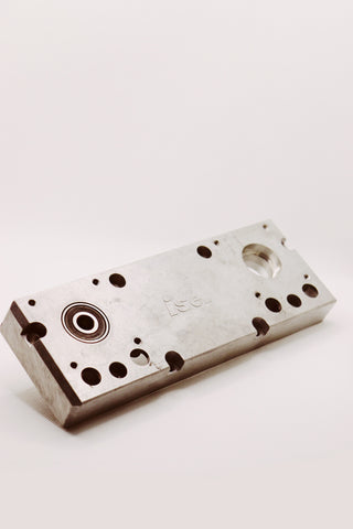 Heavy-duty slide cast aluminum end plate housing (non motor side)