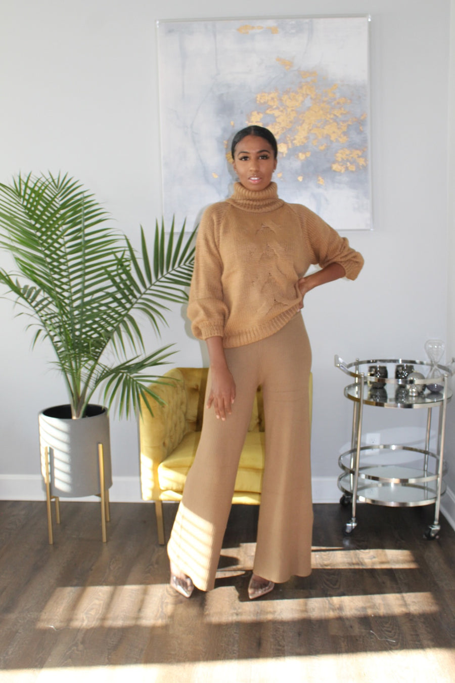 Got you covered | Cable Knit sweater deep camel