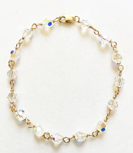Swarovski Crystals With Gold Bracelet