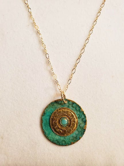 Moonlit Patina Tourmaline Necklace- One Of A Kind