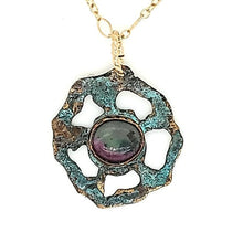 Lotus Ruby in Zoisite Necklace