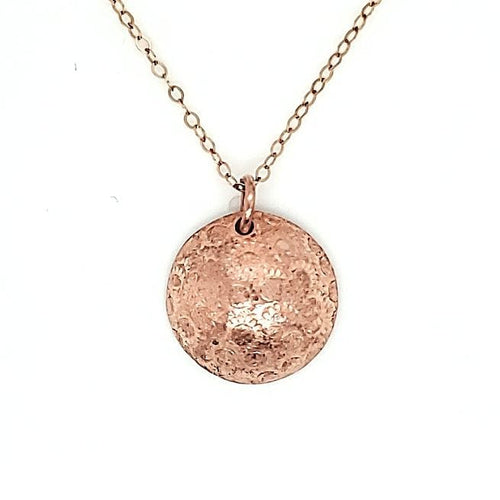 Copper Decorative Hand Stamped Necklace