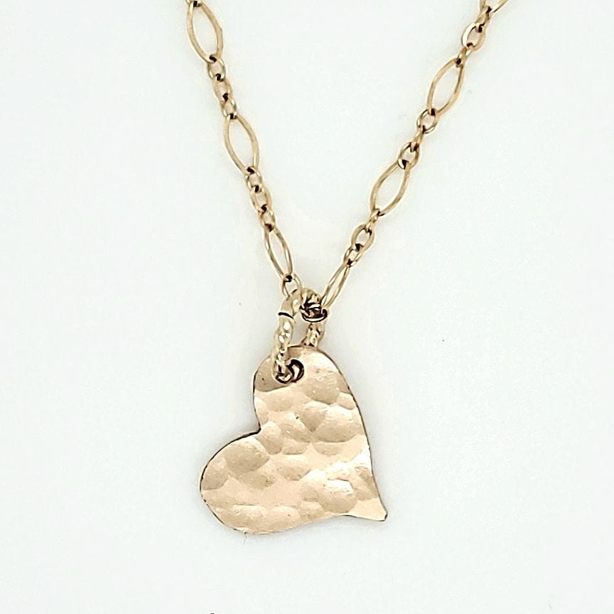 Textured Gold Heart Necklace