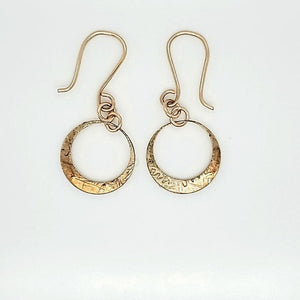 Golden Patina Hoop Earring