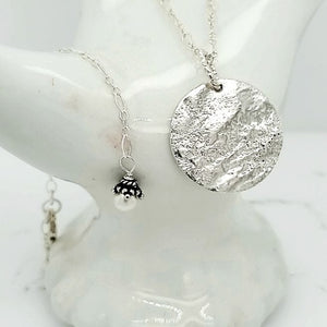 Fine Silver Moonlit Necklace