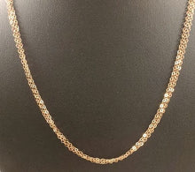 Rose Gold Fill Three Strand Necklace