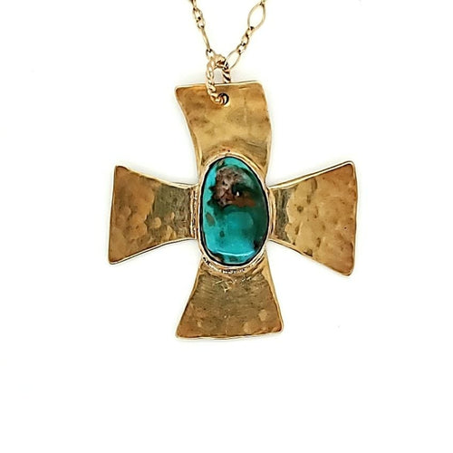 Royston Turquoise Cross Necklace