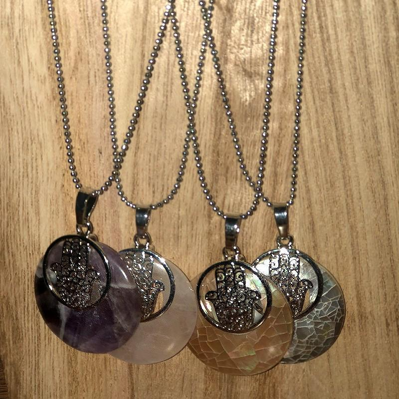 Ahimsa Gem And Shell Necklace