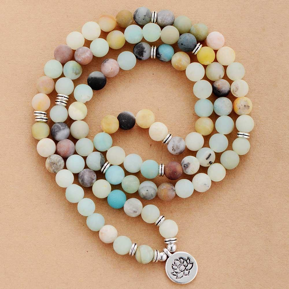 Amazonite Lotus Charm Bracelet/Necklace