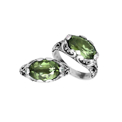 Bali Ring Collection- Green Amethyst (6 Styles)