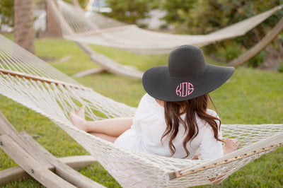 Beach Or Backyard Large Brim Hat (Embroidered Options Available, 6 Color Choices)