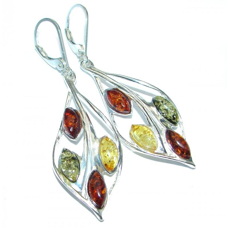 Certified Amber .925 Sterling Silver Handcrafted Earrings