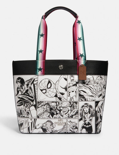 Coach * Marvel Tote With Comic Book Print