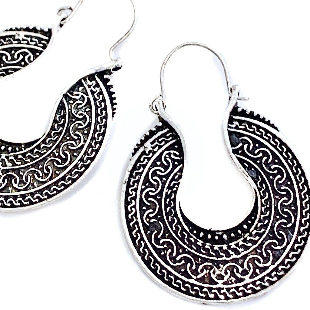 DAKOTA TIBETAN SILVER EARRINGS