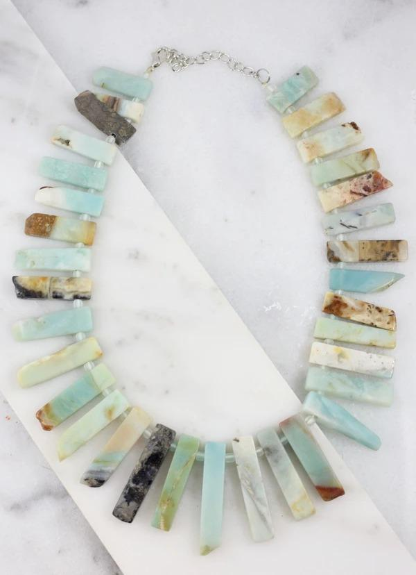 Dirk Multi Stone Necklace Mint