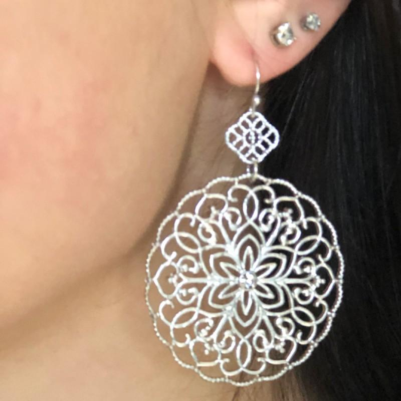 Double Metal Filigree Earring
