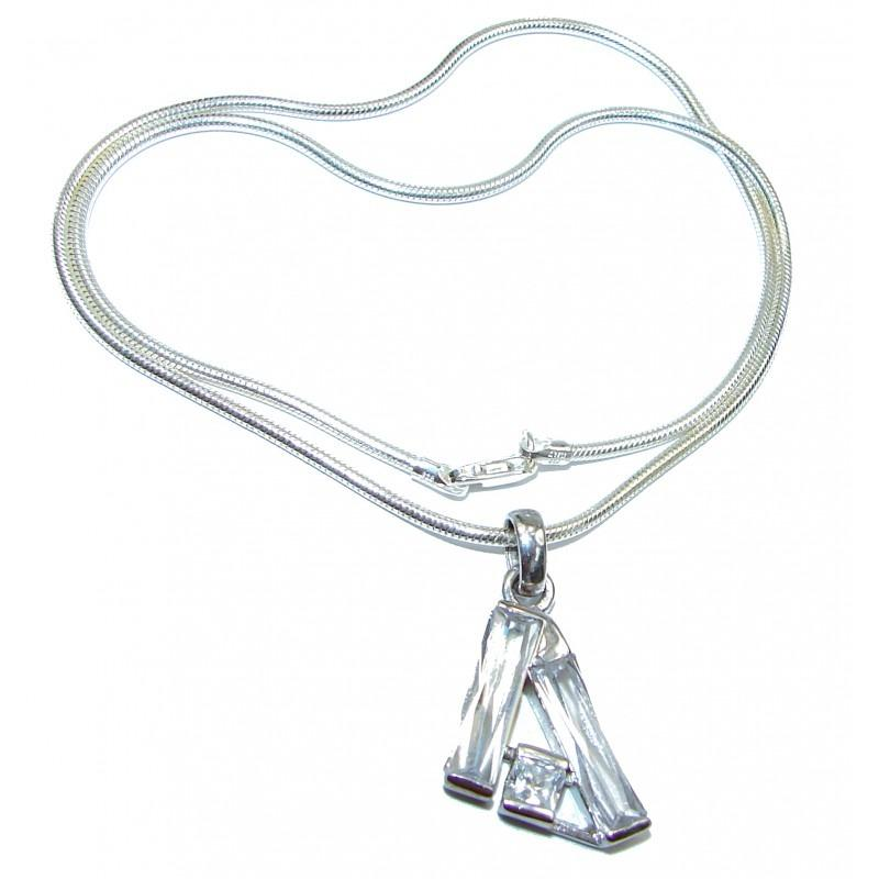 Exclusive White Topaz .925 Sterling Silver Necklace