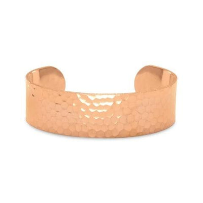 Hammered Solid Copper Cuff Bracelet