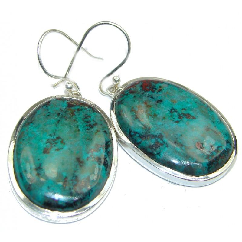 Large Natural Sonora Jasper .925 Handcrafted Earrings