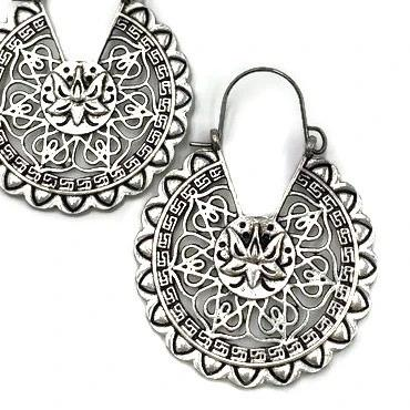 Laxmi Lotus Flower Earrings