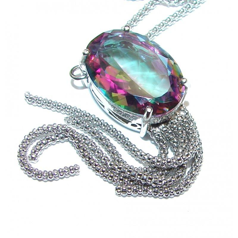 Love's Victory Magic Topaz .925 Sterling Silver Necklace