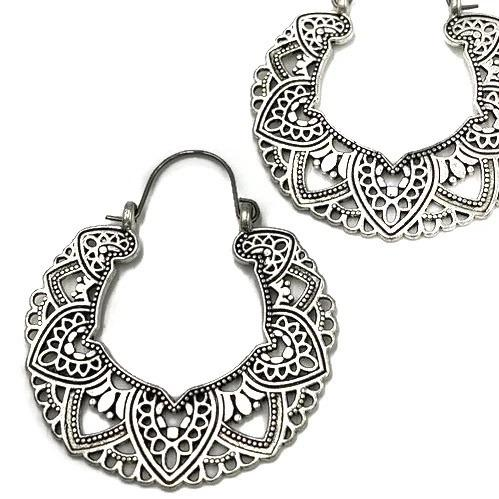 Padme Filigree Hoop Earrings