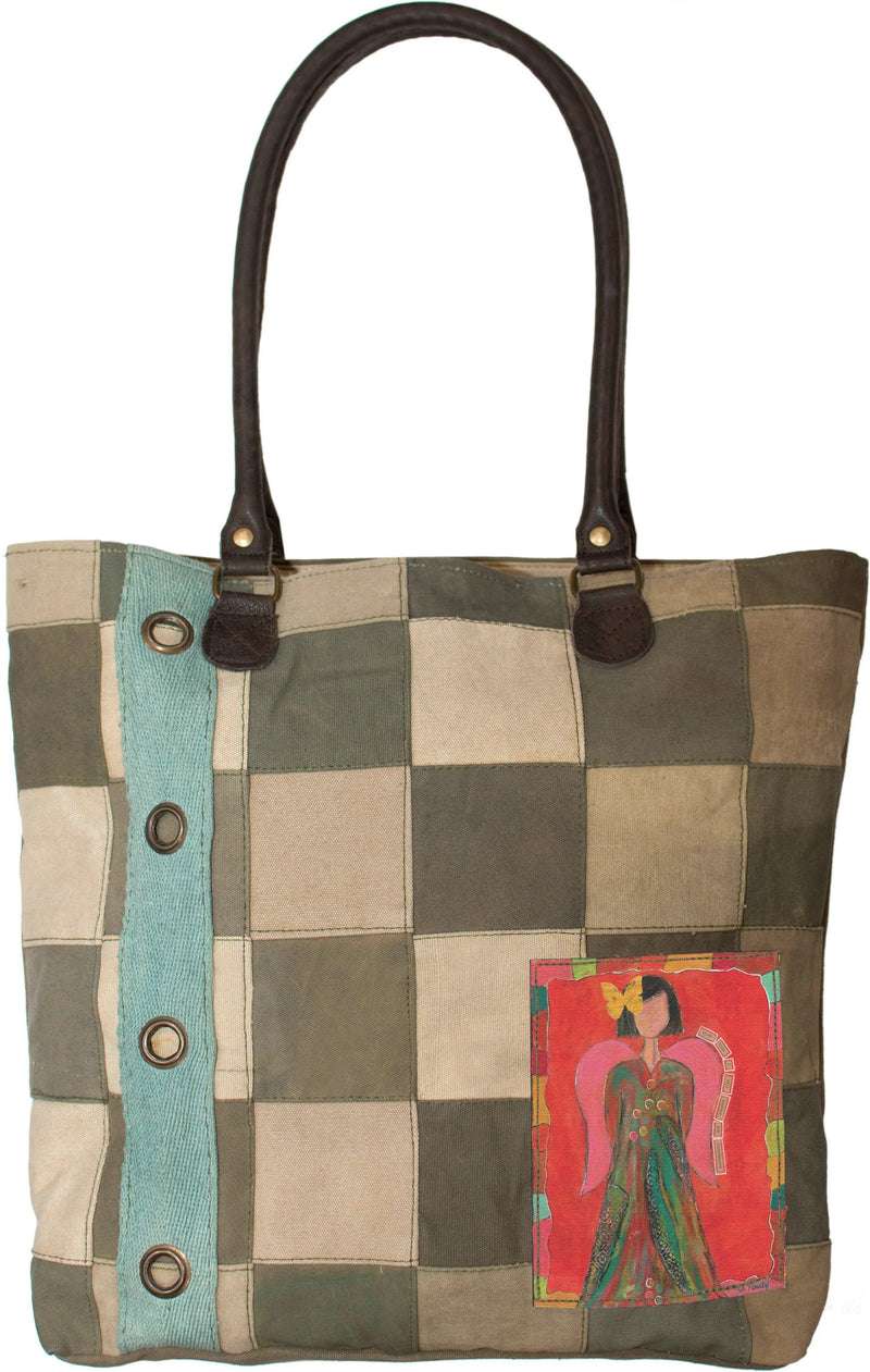 Recycled Military Tent Patchwork Tote