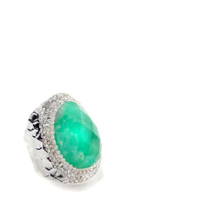 Trance Australian Jade Statement Ring